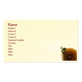 Coneflower y artículos del este de la abeja de car tarjeta de negocio