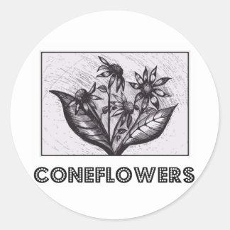 Coneflowers Etiqueta