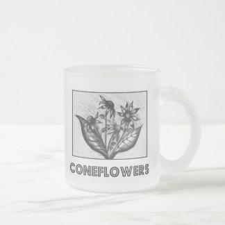 Coneflowers Taza Cristal Mate