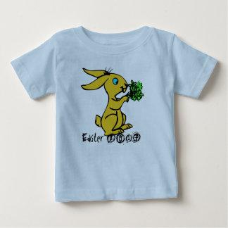 Conejito amarillo lindo para Pascua feliz preciosa Camiseta De Bebé