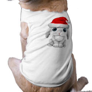 Conejito blanco del bebé que lleva un gorra de