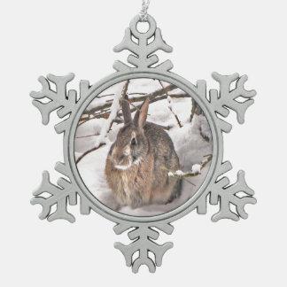Conejito de la nieve adornos