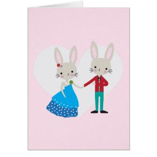 Conejito de la tarjeta del día de San Valentín