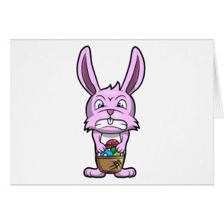 Conejito de pascua enojado tarjeta de felicitación