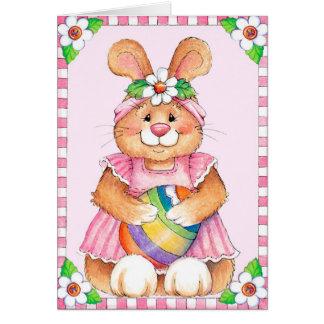 Conejito de pascua - tarjeta de felicitación
