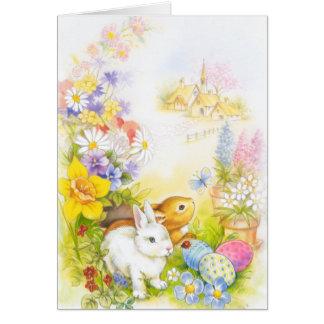 Conejito de pascua tarjeta de felicitación
