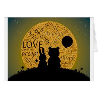 Conejito del amor tarjeta