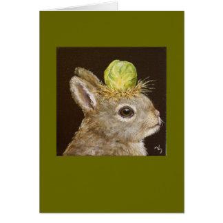 conejito del bebé con la tarjeta del gorra de las