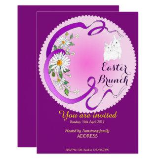 Conejito del brunch de Pascua e invitación de la