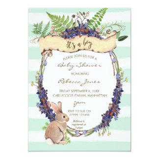 conejito del conejo del bosque de la invitación de