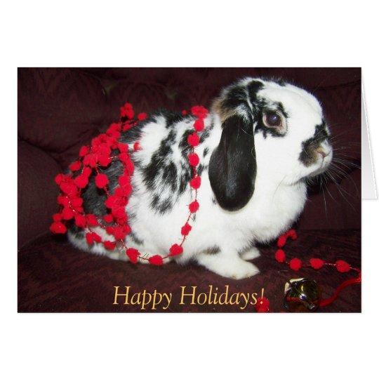 ¡Conejito del navidad, buenas fiestas! Tarjeta De Felicitación