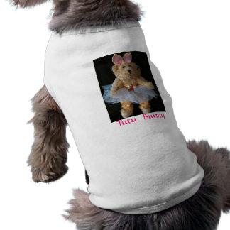 Conejito del tutú camisa de perro