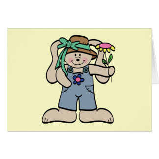 Conejito en camisetas y regalos del capo tarjeta de felicitación