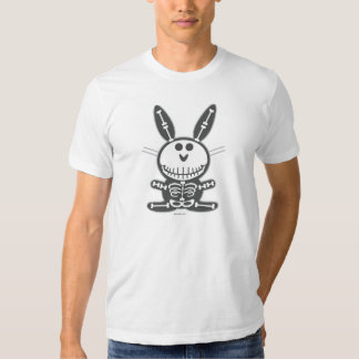 Conejito esquelético camisetas