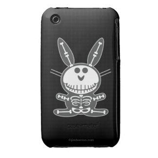 Conejito esquelético iPhone 3 Case-Mate protectores