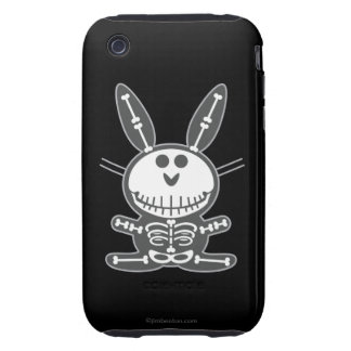 Conejito esquelético tough iPhone 3 fundas