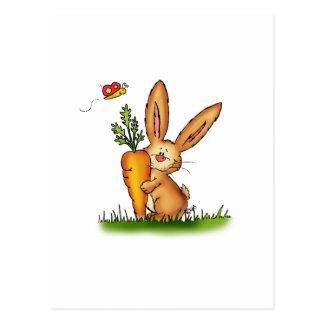 Conejito lindo con la zanahoria de Gerda Postal