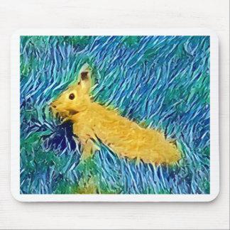 Conejito pintado Photomanipulation azul amarillo Alfombrilla De Ratón