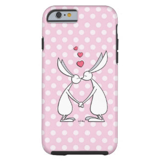 Conejitos del amor - rosa funda para iPhone 6 tough