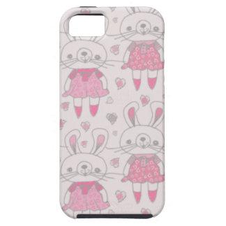Conejitos felices en rosa funda para iPhone SE/5/5s