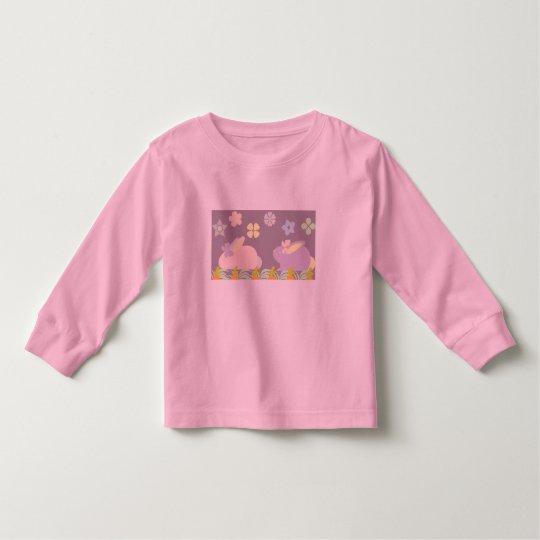 conejitos púrpuras y rosados lindos, camisa con