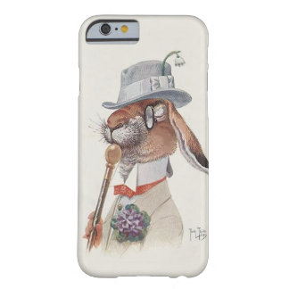 Conejo antropomorfo del vintage divertido funda de iPhone 6 barely there