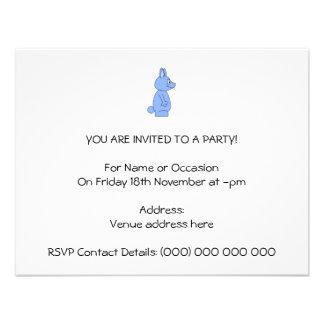 Conejo azul comunicado personalizado