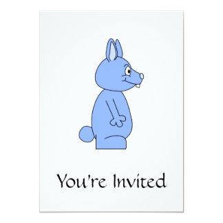 Conejo azul invitación 12,7 x 17,8 cm