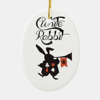 Conejo blanco Alicia en el país de las maravillas Adornos De Navidad