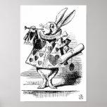 Conejo blanco como Herald Posters