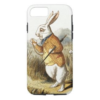 Conejo blanco de Alicia en arte del vintage del Funda iPhone 7