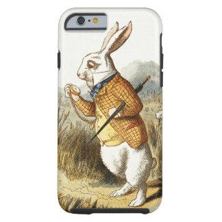 Conejo blanco de Alicia en arte del vintage del Funda Resistente iPhone 6