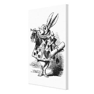 Conejo blanco de Alicia en el país de las Impresión En Lienzo