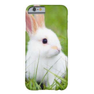 Conejo blanco funda de iPhone 6 barely there