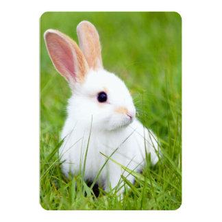Conejo blanco invitaciones personales