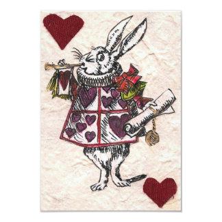 Conejo blanco RSVP Invitación 8,9 X 12,7 Cm