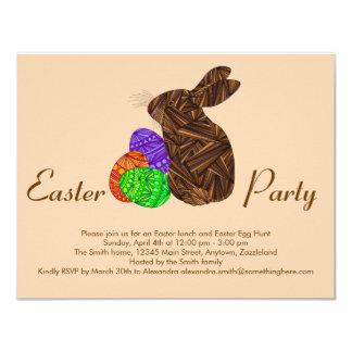 Conejo colorido de los huevos de Pascua del Invitación 10,8 X 13,9 Cm