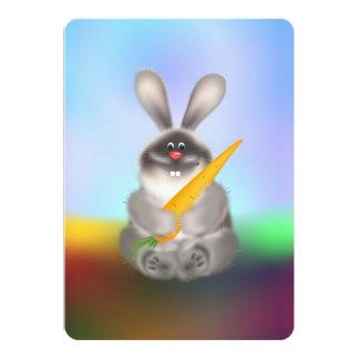 Conejo con la zanahoria invitación