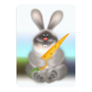 Conejo con la zanahoria invitaciones personales