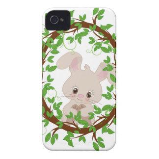 Conejo, conejito, WOODLAND-CRITTERS Carcasa Para iPhone 4 De Case-Mate