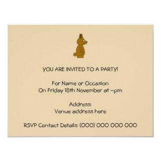 Conejo de Brown Invitación 10,8 X 13,9 Cm