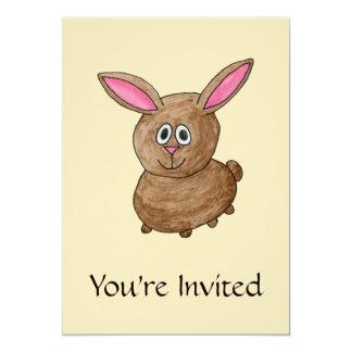 Conejo de Brown Invitación 12,7 X 17,8 Cm