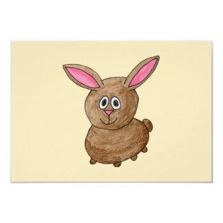 Conejo de Brown Invitación 8,9 X 12,7 Cm