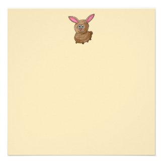 Conejo de Brown Invitaciones Personalizada