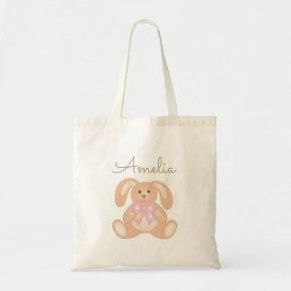 Conejo de conejito adorable dulce femenino lindo bolso de tela