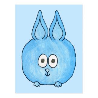 Conejo de conejito azul lindo postal
