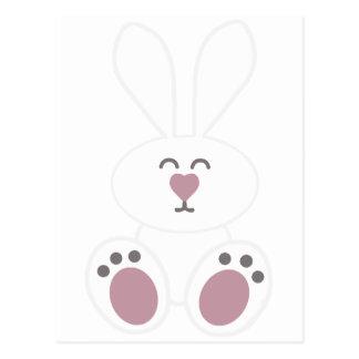 Conejo de conejito blanco lindo postal