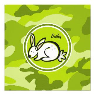 Conejo de conejito camo verde claro camuflaje anuncio