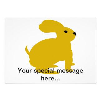 Conejo de conejito de Lil Brown Comunicado Personalizado