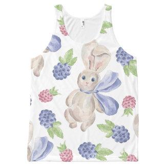 Conejo de conejito del cuento de hadas con el camiseta de tirantes con estampado integral